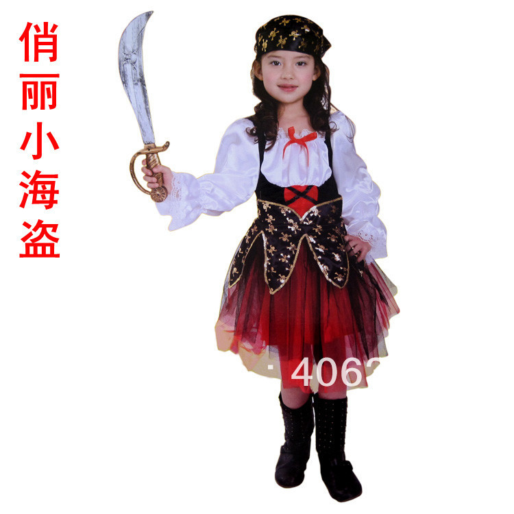 aliexpresscom buy free shippinghalloween party dress up costume children girl pirate costume full set scarf dress from reliable dress air suppliers on - Free Halloween Dress Up Games