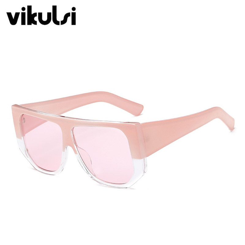 82a10e83d834 Flat Top Oversized Square Sunglasses Women Gradient 2018 Summer Style  Classic Women Vintage Sun glasses Big Shades Eyewear UV400