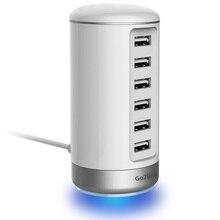 Многофункциональный 6 портов USB настольное зарядное устройство док-станция с 5 В/6A Быстрая зарядка для iPhone iPad samsung Xiaomi Tablet