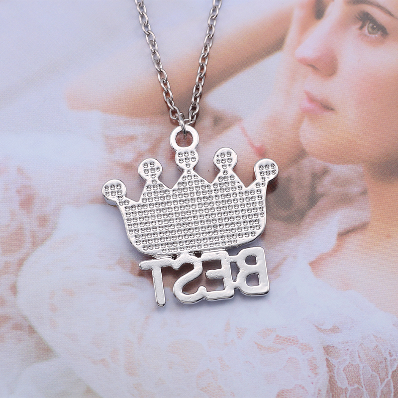 HTB1Kt2MXovrK1RjSszfq6xJNVXaq - Best Friend Necklace Women Crystal Heart Tai Chi Crown Best Friends Forever Necklaces Pendants Friendship BFF Jewelry Collier