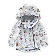 Meanbear Spring Boys And Girls Hooded Hiking Jacket Baby Single Coat Children's Personality Cartoon Windbreaker Suit недорого