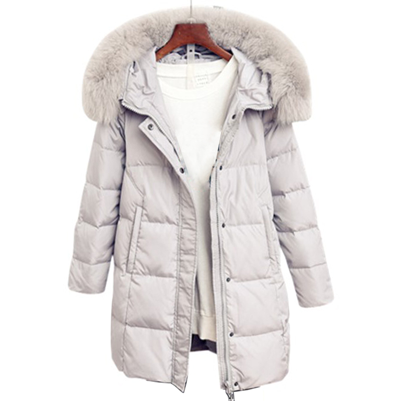 women's clothing winter thick   down     coat   women warm   coat   outwear with hooded   Down   Parka jacket Large Fur Collar Long Snow Outwear