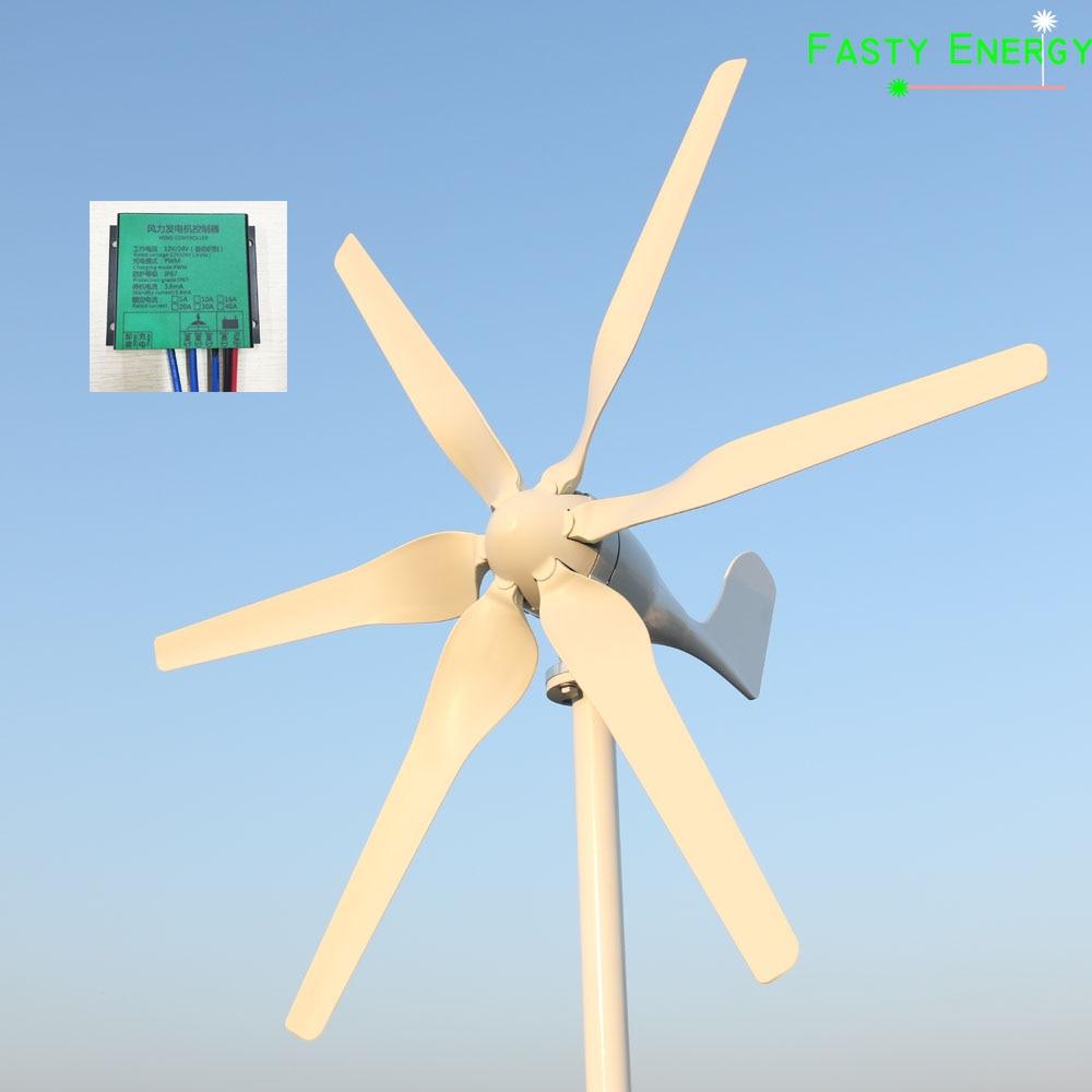 800w New Energy Vento ad alta efficienza energetica 12 v/24 v/48 V vento generatore di turbina con REGOLATORE di CARICA MPPT per uso domestico