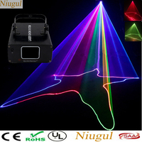 DJ Laser Stage Light RGB Full Color Laser Projector Linear Beam Effect Stage Lighting For Disco Xmas Party Scanner Laser Light