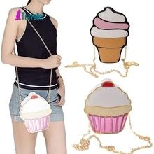 Lustige Eis Kuchen Tasche Kleine Crossbody Taschen Für Frauen Netter Geldbeutel Handtaschen Kette Umhängetasche Parteibeutel