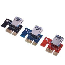 PCI-E PCI Express 1X to 16X Graphics Extension Cable Mining PCI-E Extended Line Card Adapter for PC Computer 3 Colors Wholesale