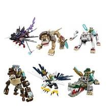 Qigong animal editon 2 CHIMAED figura de superhéroes bloques de construcción ladrillos para niños regalo juguetes para niños