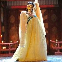 Chinese Folk Dance Wear Costumes Tang Dynasty Wu Zetian Girl Neon Clothes Women DATANG Imperial Hanfu