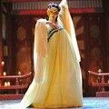 Chinese folk dança usam trajes da dinastia tang wu zetian menina neon roupas mulheres imperial hanfu datang dress antiga cosplay