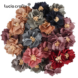 Image 2 - 10/20pcs 2.5/3/4cm Artificial Flower Silk Flower Head For DIY Wedding Party Home Decorations Floral Wreath Scrapbook Craft B1002