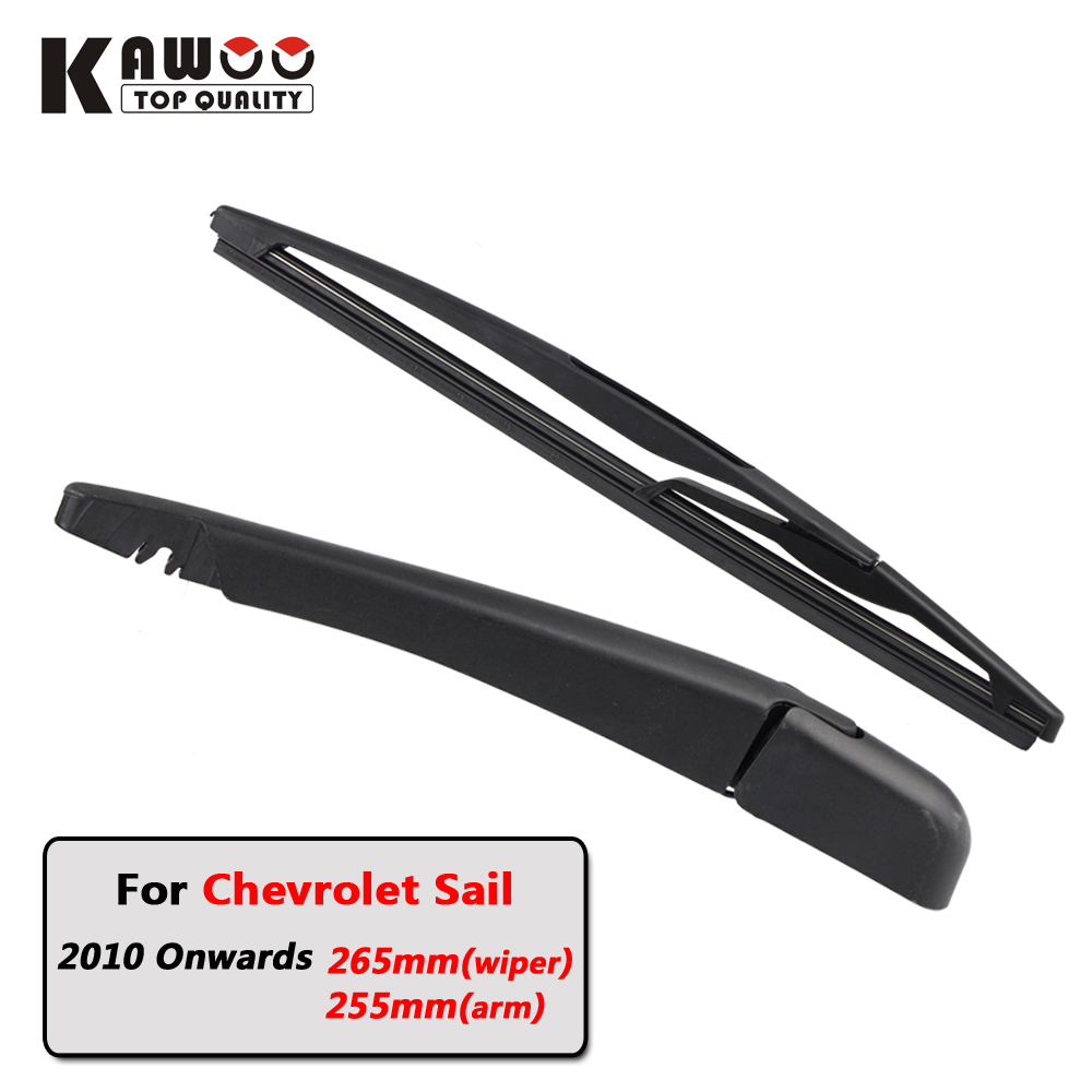Kawoo car rear wiper blade blades back window wipers arm for chevrolet sail hatchback 2010