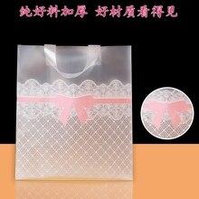 Transparent plastic bag Fashion shopping bag printing with logo,500pcs a lot,free shipping