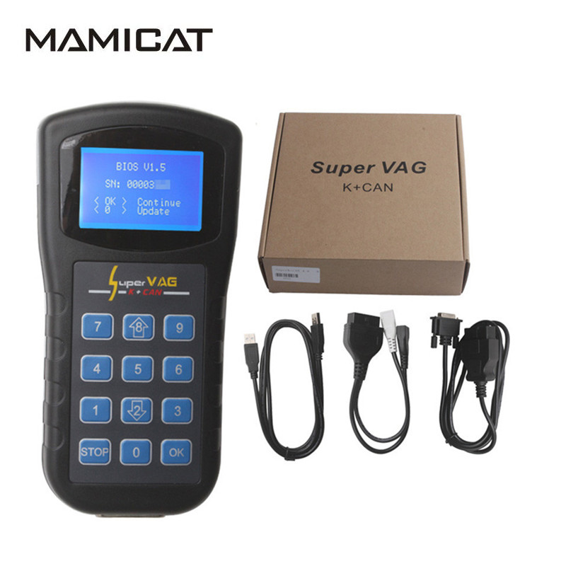 Free Shipping Super Vag K Can 4.6 K+CAN Odometer TV Airbag Key Programming VAG 4.6 K-line CAN-line Diagnostic Scanner i can read grades k 1