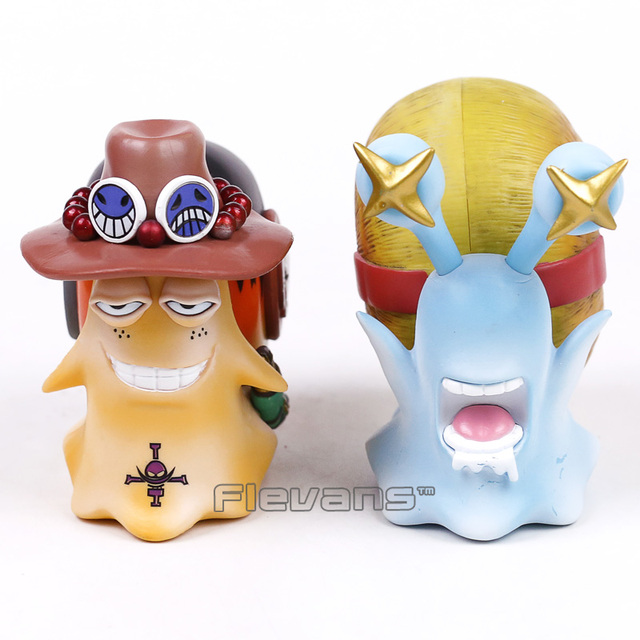 Anime One Piece 2pcs/set Luffy & Ace Den Den Mushi Telephone PVC Figures Toy