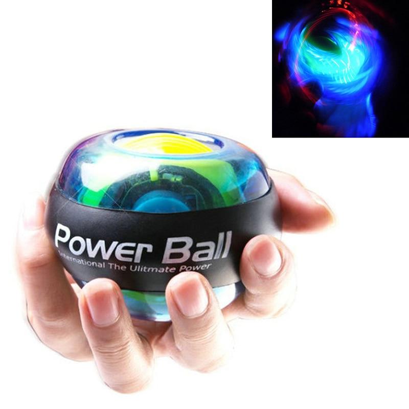 Тренажер расслабляющий шар на гироскопе высокое качество запястье Мышечная сила мяч гироскоп тренажер для рук усилитель светодиодный фитнес-мяч