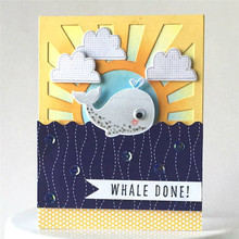YaMinSanNiO Cute Whale Clear Stamps and Die Animals Birthday Metal Cutting Craft New 2019 Card  Dies