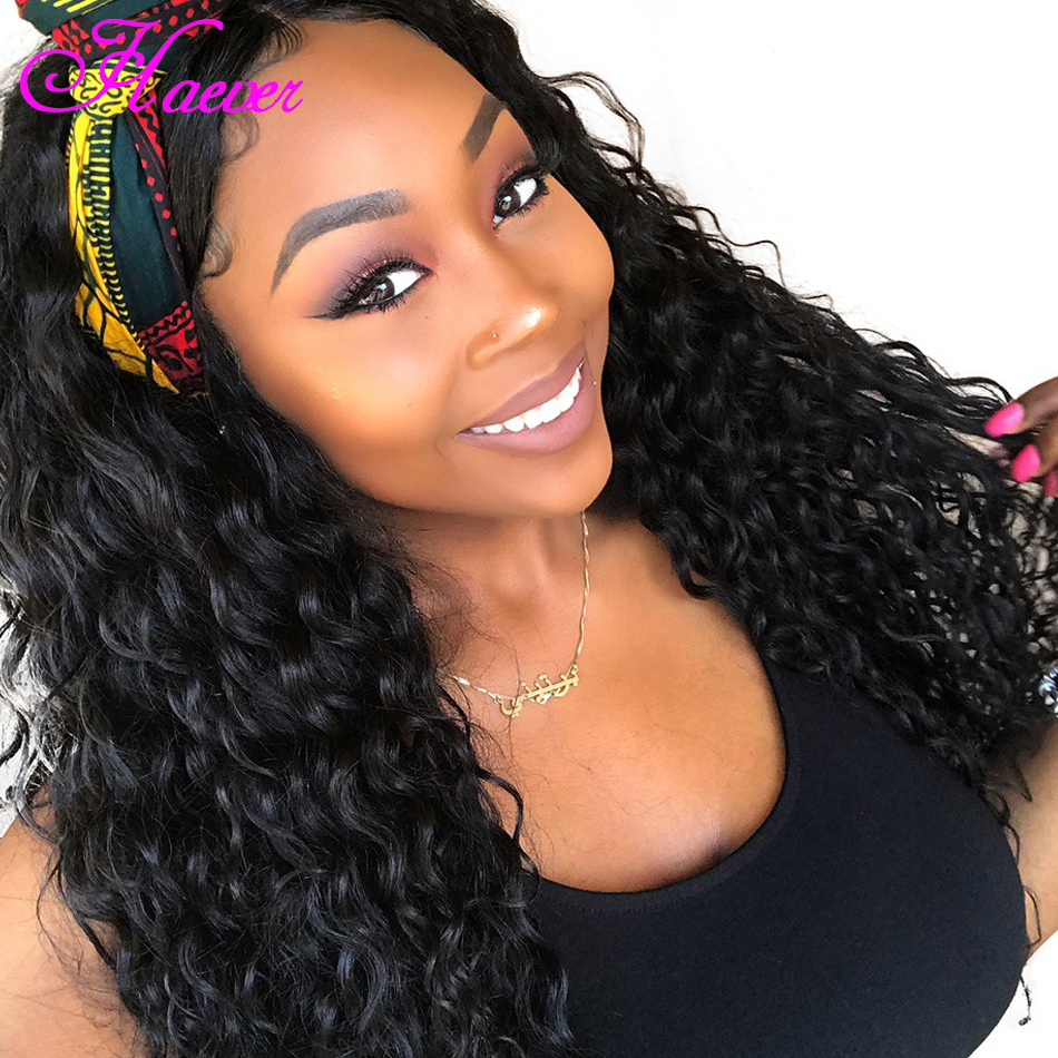 Brazilian Deep Wave Curly Silk Base Wigs Full Lace Human Hair Wigs For Black Women Remy Hair Wigs With Baby Hair(China)