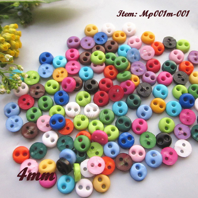 250 MULTI COLOURED ROUND RESIN 6MM BUTTONS # DOLLS CLOTHES//CRAFTS//CARD MAKING