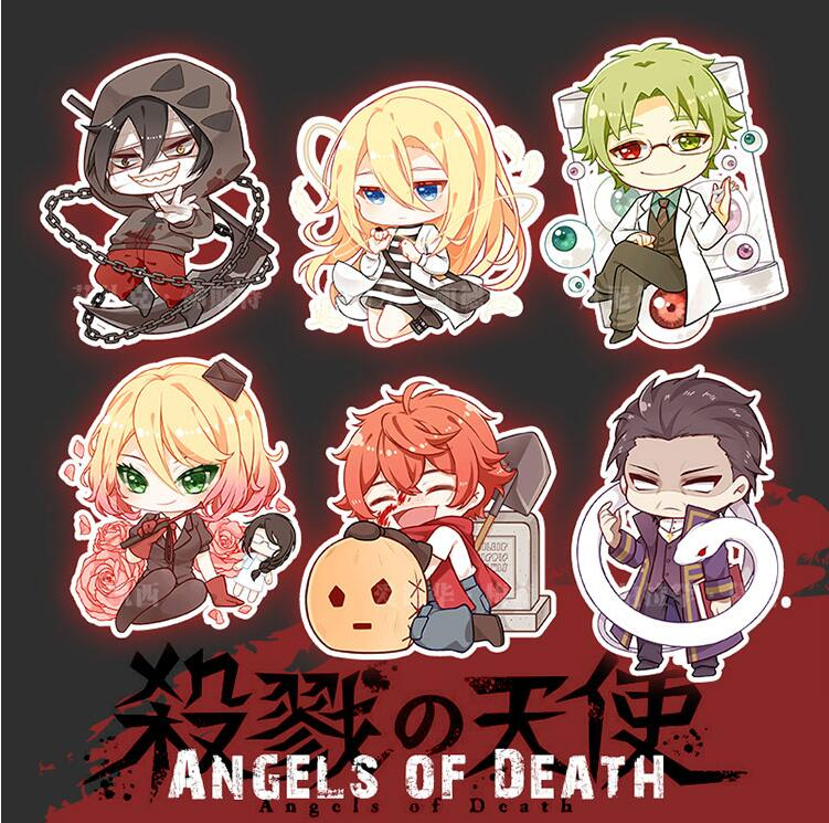 2018 Anime Angels of Death Keychain Cosplay Accessories Acrylic Figure Keyring Satsuriku no Tenshi Pendants Collection Gifts