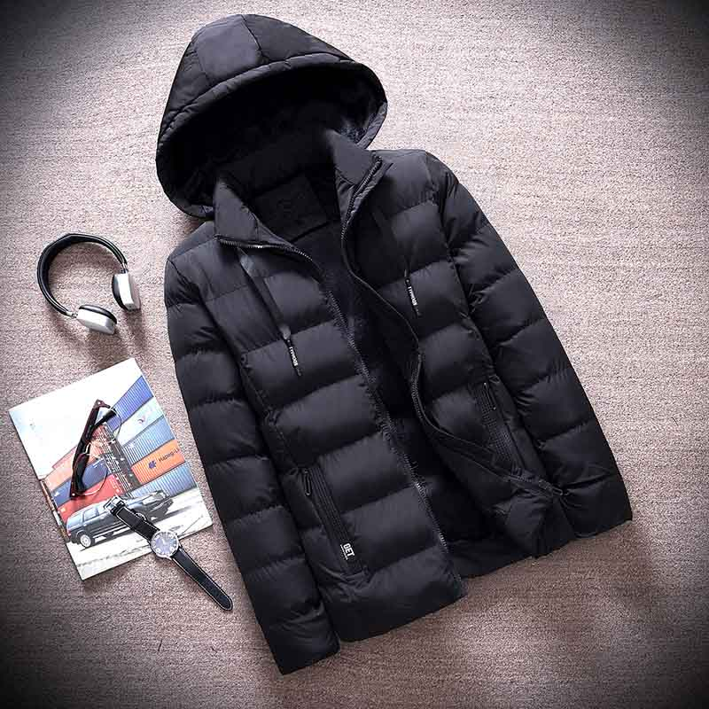 2018 Large Size New Men Winter Jacket Coat Fashion Quality Cotton Padded Windproof Thick Warm Soft Clothing Hooded Male Parkas