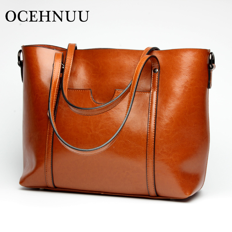 OCEHNUU Big Luxury Handbags Women Bags Designer Tote Bag Set Genuine Leather Fashion Ladies Shoulder Bag Female Soft Zipper 2018OCEHNUU Big Luxury Handbags Women Bags Designer Tote Bag Set Genuine Leather Fashion Ladies Shoulder Bag Female Soft Zipper 2018