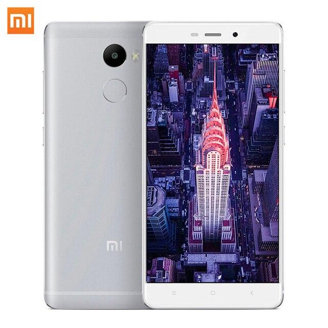 Original Xiaomi Redmi 4 5.0 Inch Snapdragon430 Octa Core 2G RAM 13MP 4100mAh FDD LTE 4G Huella dactilar ID MIUI 8.1 Teléfono