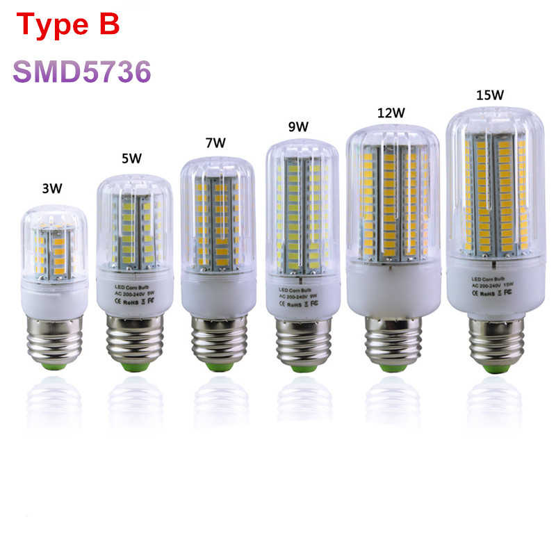 1X Newest E27 Led Bulb Lamp 3W 5W 7W 9W 12W 15W Full Home Lighting SMD5731 SMD5736 Black PCB 220V Spotlight Focos Luz Led Series