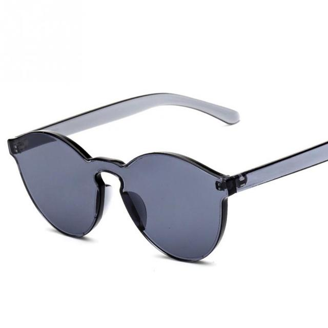 07b6265bbec Unisex No Frame UV400 Retro Sunglasses Men Women Cat Eye Transparent Glasses  Candy Color Glasses Eyewear Brand New
