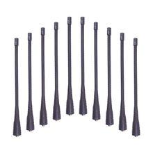 10 sztuk UHF 400 470mhz elastyczna antena biczowa dla Motorola GP338, GP328, GP3188, GP68, GP340, GP88S, GP88, CP140 Ham Walkie Talkie
