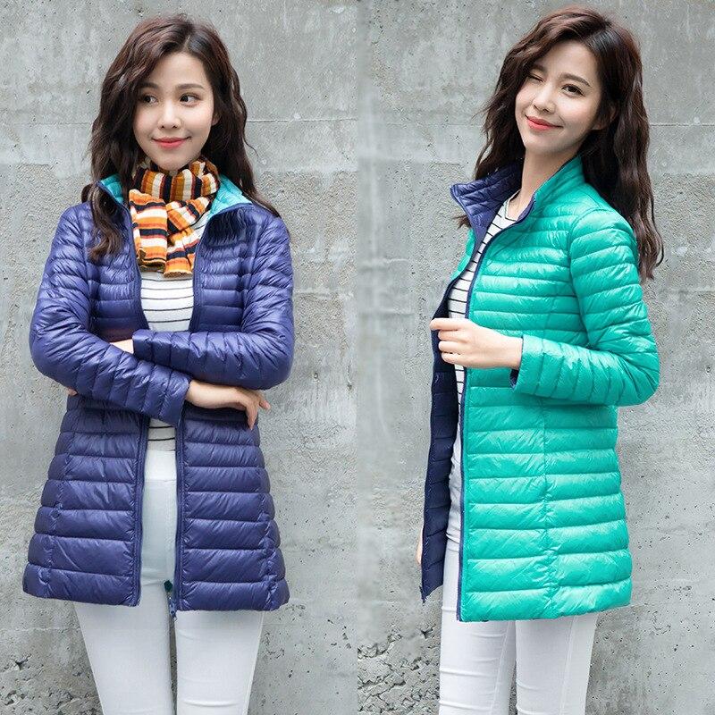 Womens down jacket Warm Coat Women Ultralight White Duck Down Jacket Female Long Duck Down Jacket Women Size S-4XL