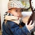 Primavera e outono moda crianças boinas xadrez chapéus para boy e menina chapéu e cap boinas chapéus do bebê 2017 melhores presentes 9 cores disponíveis