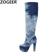 53031508a37 Knee High Boots Jeans Promotion-Shop for Promotional Knee High Boots ...