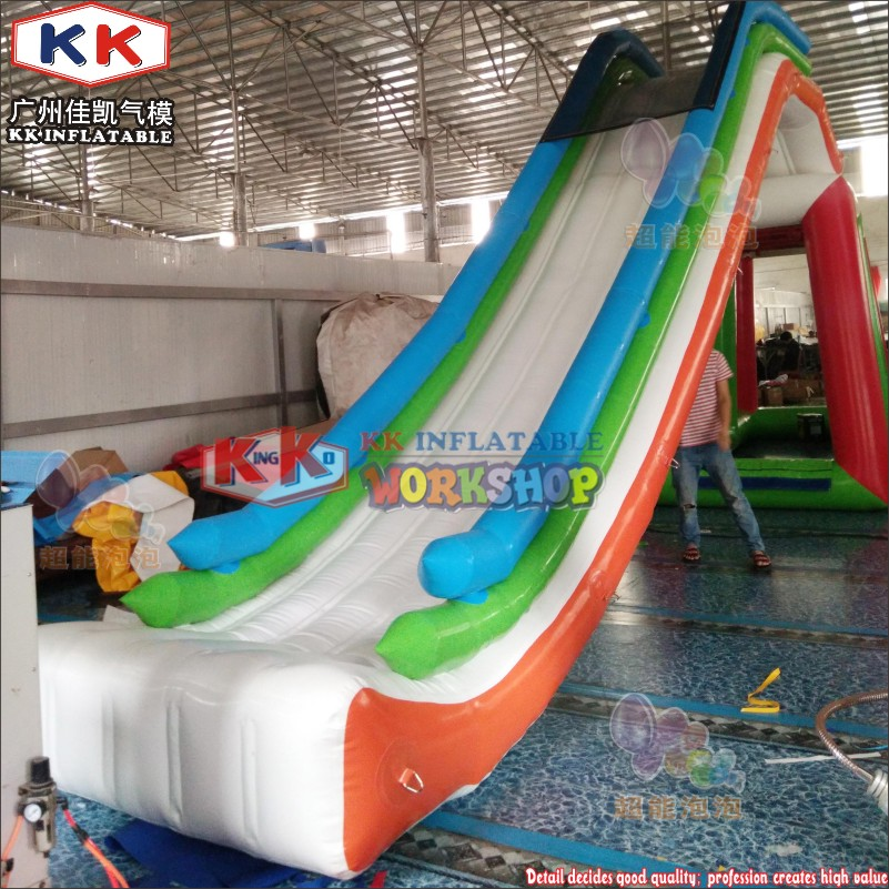 Airtight Dual Lane Yacht Water Slide,Inflatable Floating Yacht Slide For Sale