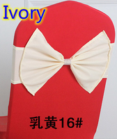Ivory colour wedding belt sash Butterfly sash with shiny buckle in the middle lycra sash spandex band bow tie ribbon wholesale