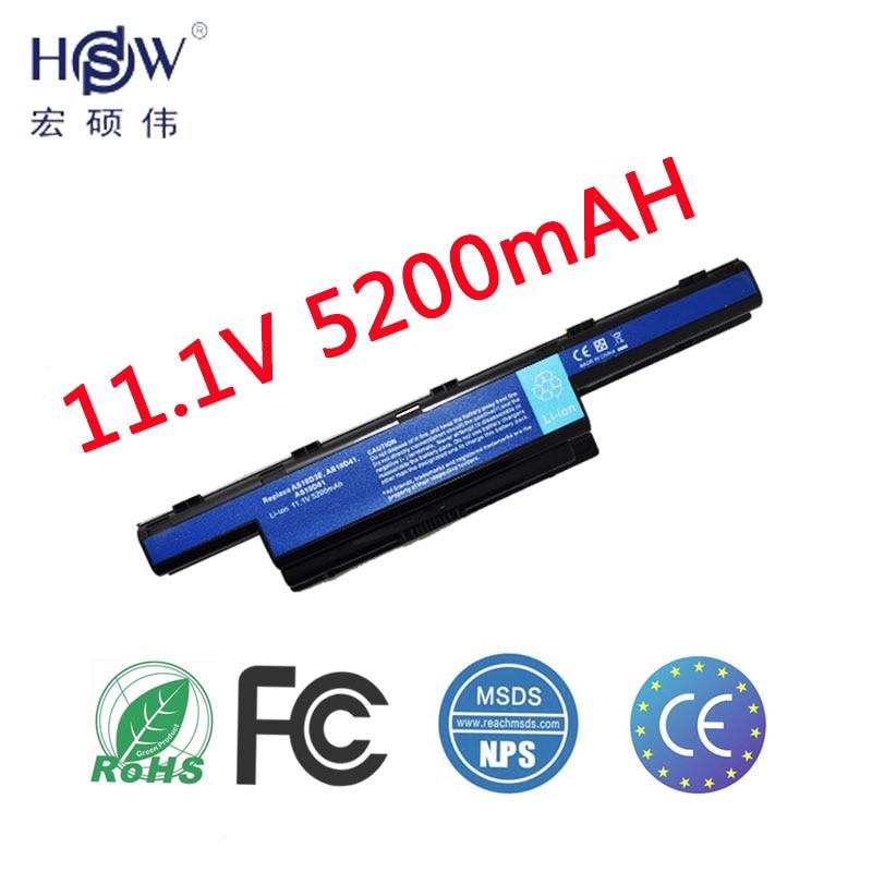 HSW nueva batería del ordenador portátil para acer as10d81 as10d51 baterías as10d31 batería para portátil para acer aspire 5552G e1-531 batería