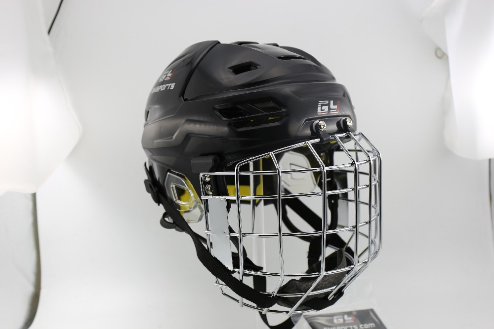 2017 Global unique ice hockey mask helmet CE standard hockey equipment face shield guard free shipping high quality pp eva foam ice hockey helmet with black wire cage face mask