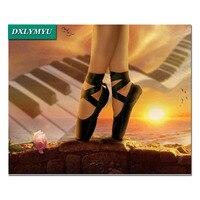 Majsterkowanie Malowanie Diamentowa balet buty Pełne placu Dżetów Muliną 5D Diament Diament Mozaika Haft piękności Sen tancerz