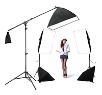 DHL Free Shipping Photo Stuido Soft Box Set 4softbox Kit 1back Light Kit 5pcs 175w Bulbs