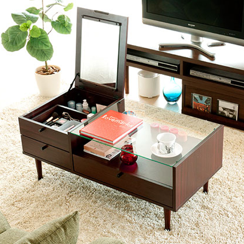 Coffee Table Wood Tea Small Apartment Multifunctional Storage Glass Living Room Coffee With