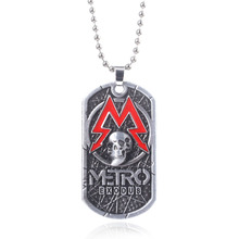 New Game Metro Exodus 2033 SPARTA Dog Tag Necklace Pendants Punk Vintage Skull Head Dog Tag Charms Necklaces Game Choker Jewelry game metro 2033 keychain letter metro exodus skull dog tag pendant key chain for men car keyring llaveros jewelry