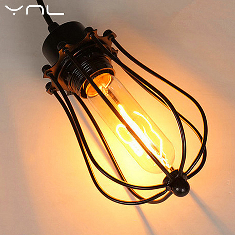YNL Cord LED Pendant lights E27 retro Celling lights with Edison bulb loft industry country Vintage iron Painted Indoor lighting mordern nordic retro edison bulb light chandelier vintage loft antique adjustable diy e27 art spider ceiling lamp fixture lights