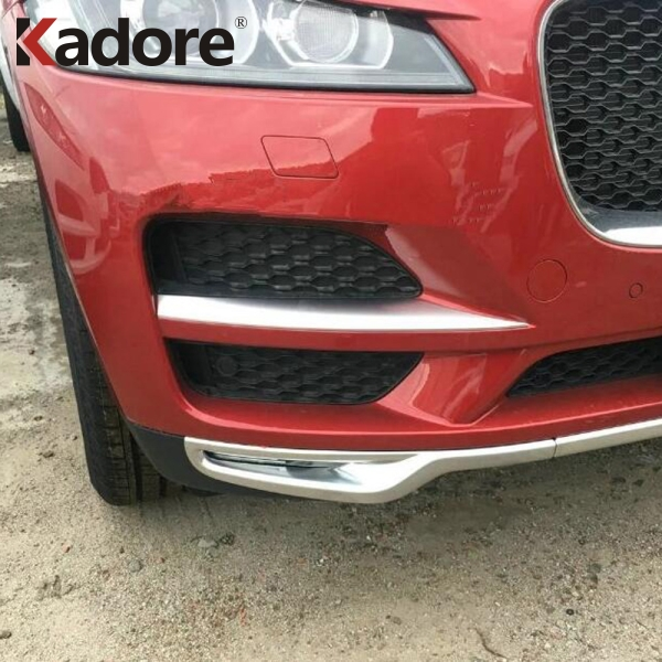 For Jaguar F PACE 2016 2017 2018 Front Bumper Grille Racing Grill Strips Trim Fog Light