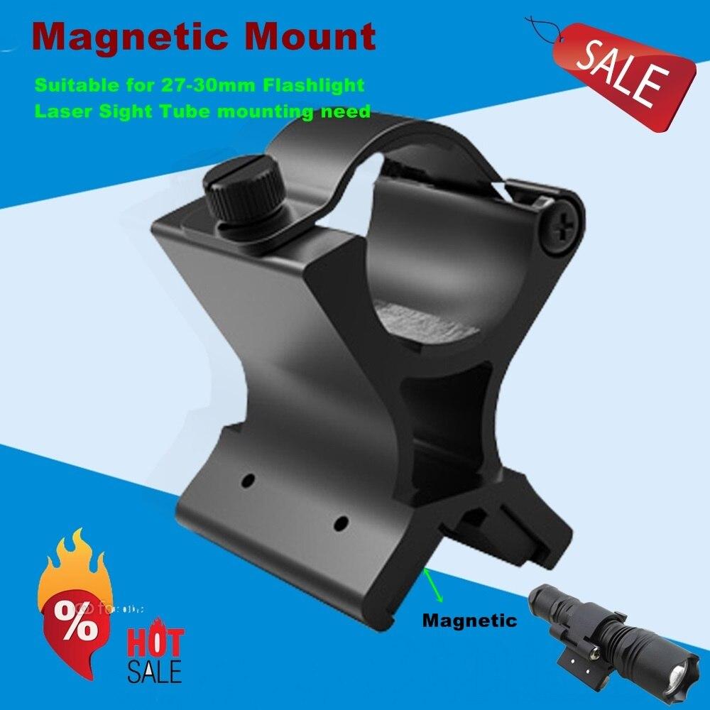 30mm scope mount Magnetic Flashlight Mount Black Hole Diameter 30mm Flashlight /laser /rifle scope hunting mount-MX02