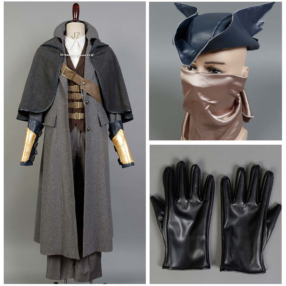 Bloodborne Cosplay Costume The Hunter Cosplay Costume Full Set Halloween For Adult Men Halloween Carnival Costumes