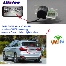 цена на Liislee wireless reverse backup camera For BMW X1 X3 X5 X6 BMW 2 3 4 5 CCD night vision waterproof Full HD