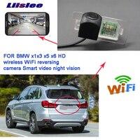 Liislee wireless reverse backup camera For BMW X1 X3 X5 X6 BMW 2 3 4 5 CCD night vision waterproof Full HD