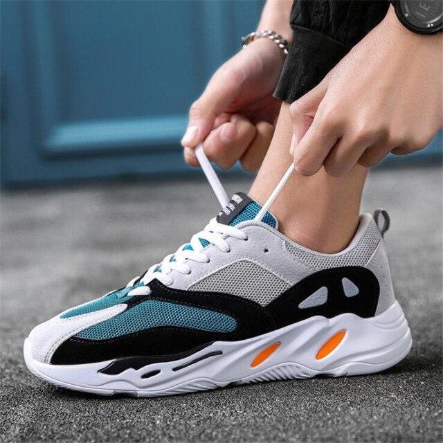 0baf8651d O pai do vintage Homens sapatos 2019 kanye west moda luz malha respirável  dos homens sapatos