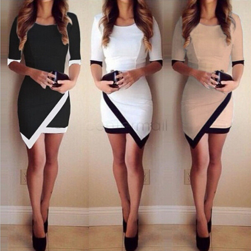 2018 Fashion Dress Women Bandage Bodycon Half Sleeve Evening Sexy Party Mini Dress Ladies Short Mini Dress Vestidos