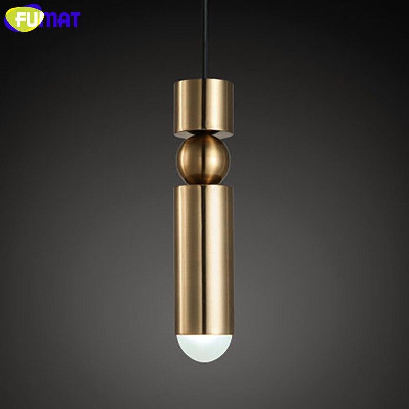 Фумат Внутреннее освещение железный подвесной светильник фитинг столовая золото подвесные светильники современный скандинавский подвесн