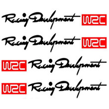 Dewtreetali WRC Balap Handle Pintu Stiker Decals untuk BMW MINI Audi VW Volkswagen Skoda Peugeot Citroen Renault 4 Pcs/set(China)